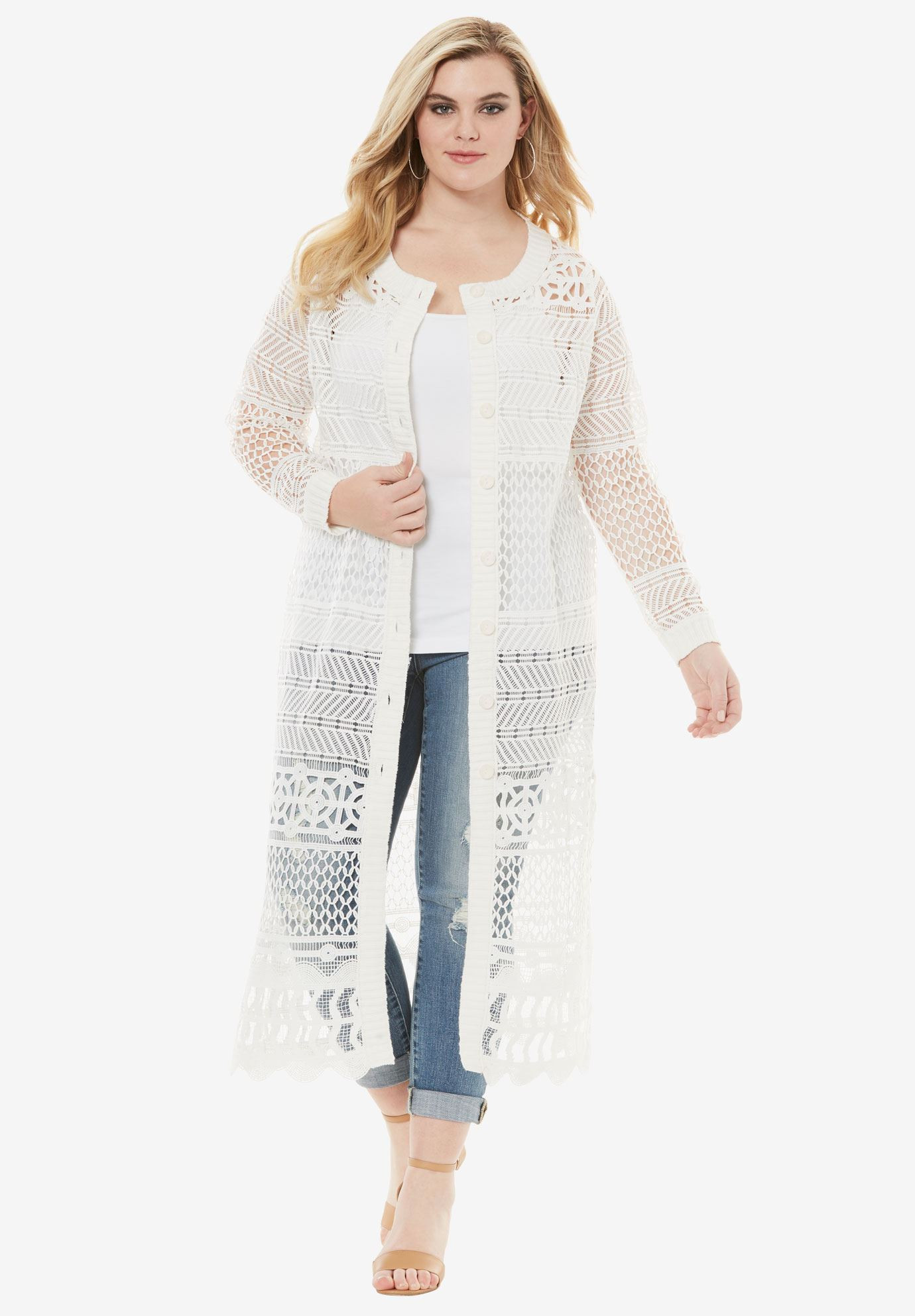 Lovely Long Lace Crochet Cardigan Plus Size tops Crochet Lace Cardigan Of Great 45 Images Crochet Lace Cardigan