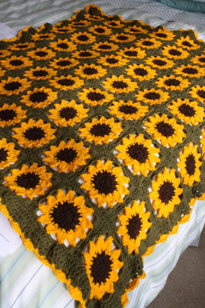 Lovely Look What Ive Made Projects Crochet Sunflower Blanket Sunflower Crochet Blanket Of Contemporary 48 Ideas Sunflower Crochet Blanket