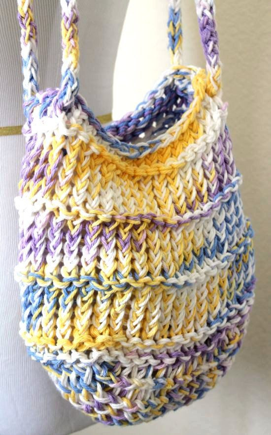 Lovely Loom Knit Bag Cotton Mesh Pastel tote Knitting Bags and totes Of Marvelous 48 Ideas Knitting Bags and totes