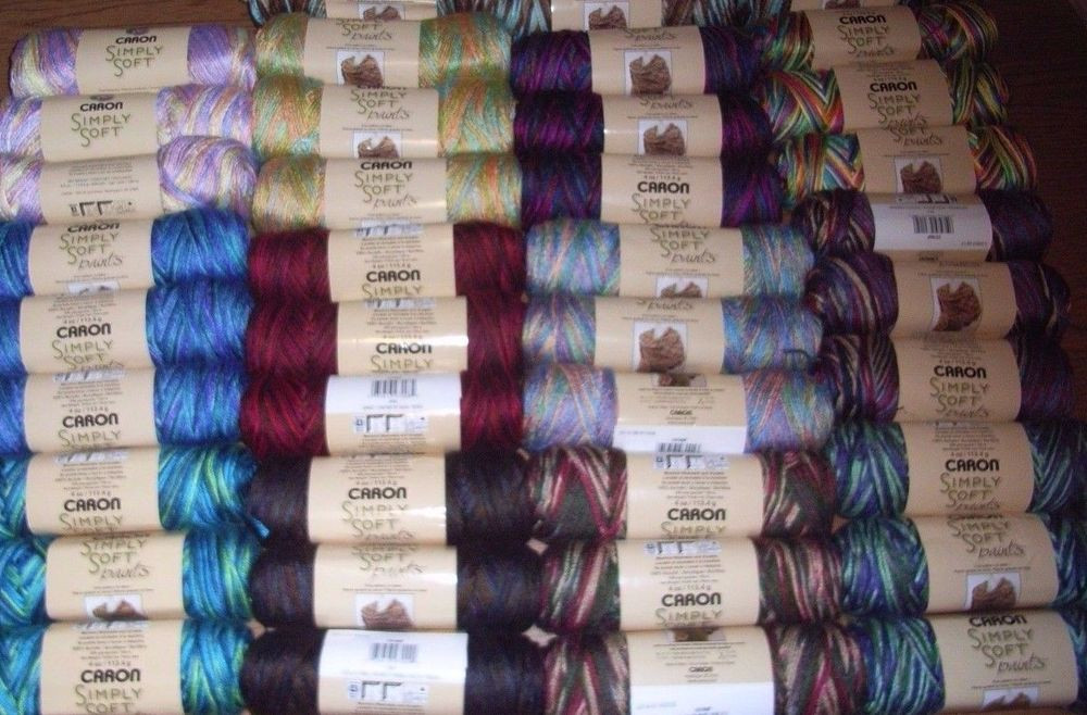 Lovely Lot Of 3 Skeins Caron Simply soft Paints Yarn 4 Oz Ea Caron Simply soft Variegated Yarn Of Marvelous 46 Ideas Caron Simply soft Variegated Yarn