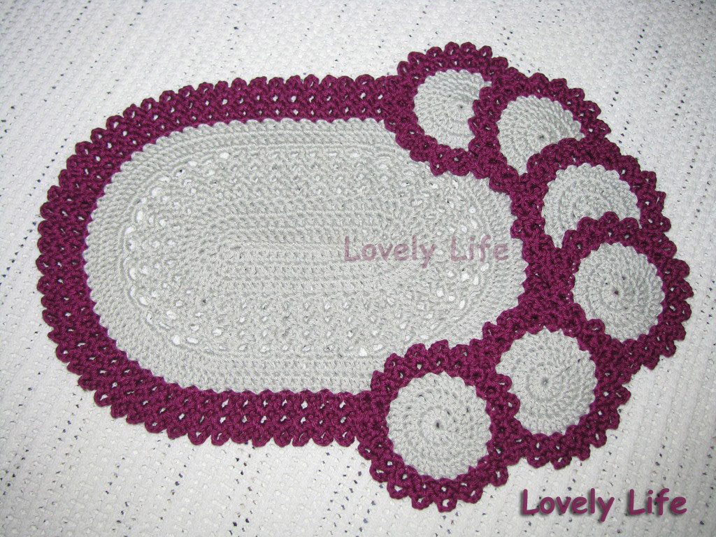 Lovely Lovely Life Oval Placemat and Coasters Free Crochet Placemat Patterns Of Lovely 40 Pics Free Crochet Placemat Patterns