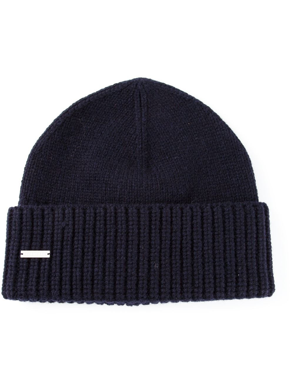 Lyst Dsquared² Ribbed Hat in Blue for Men