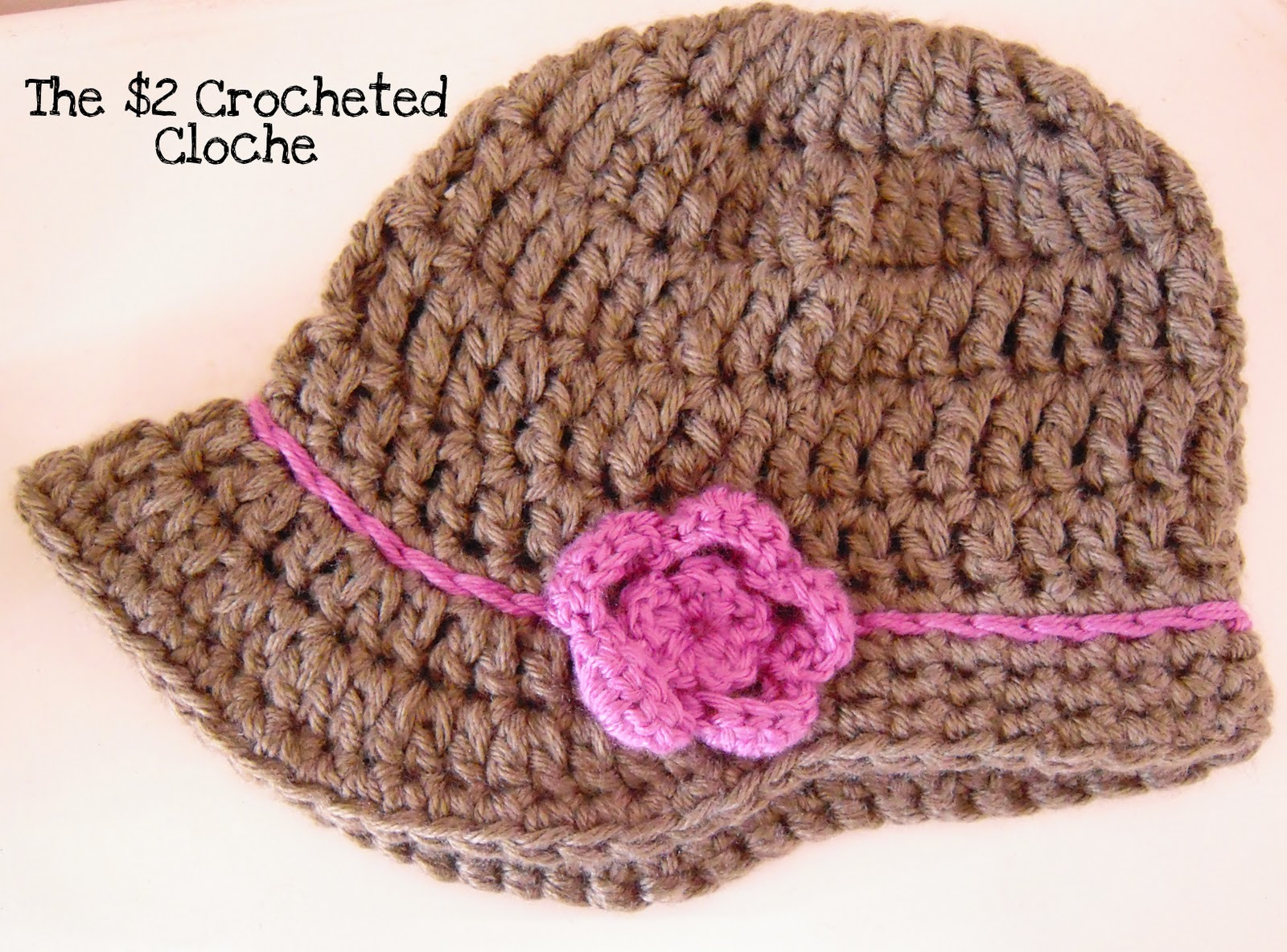 Maize Hutton The $2 Crocheted Cloche My First Hat Pattern