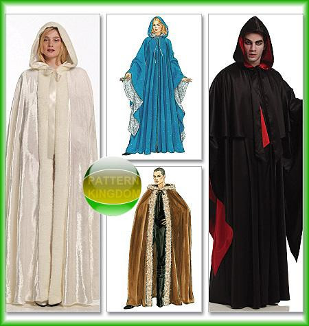 Me val Gothic Hooded Cape & Capelet Patterns S XL
