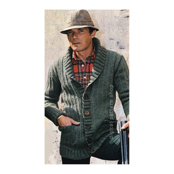 Lovely Mens Knit Cardigan Pattern Sweater Jacket Knitting Pattern Pdf Mens Patterned Cardigan Of Charming 50 Models Mens Patterned Cardigan