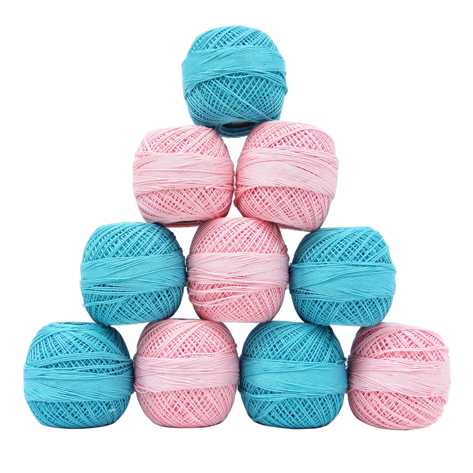 Lovely Mercerized Pink Cotton Crochet Yarn Embroidery Skeins Knitting Thread Of Amazing 48 Models Knitting Thread
