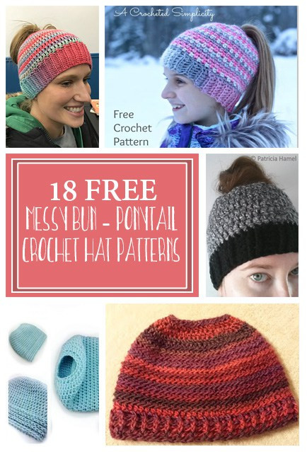 Lovely Messy Bun Crochet Hat Free Patterns Crafty Tutorials Free Knitting Pattern for Messy Bun Hat Of Delightful 40 Pictures Free Knitting Pattern for Messy Bun Hat