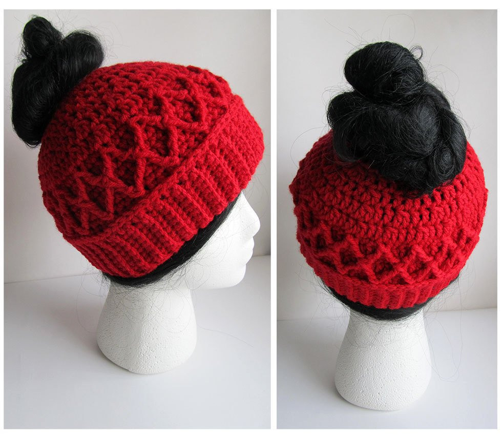 Lovely Messy Bun Hat Crochet Pattern Pattern for Crochet Ponytail Bun Beanie Crochet Pattern Of Charming 42 Pics Bun Beanie Crochet Pattern