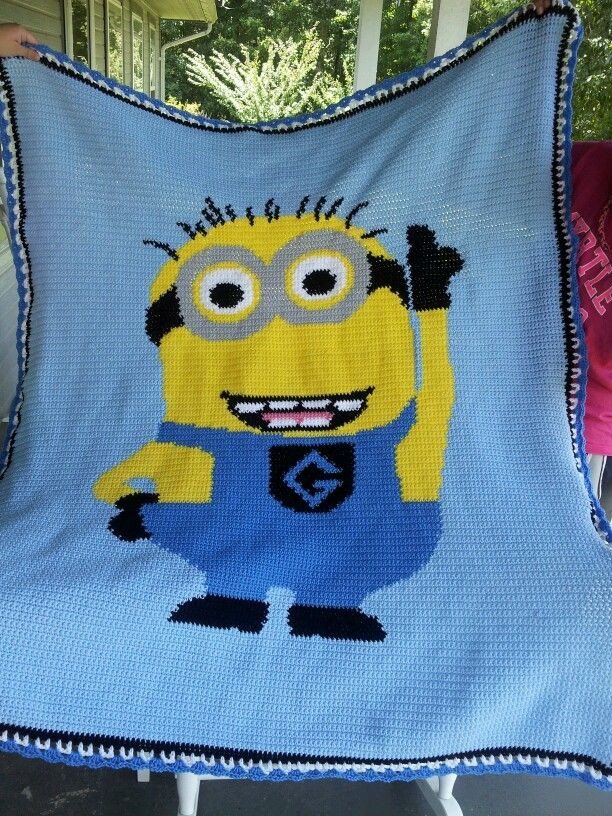 Lovely Minion Afghan I Will Be Making This for Dave Free Minion Crochet Pattern Of Marvelous 44 Images Free Minion Crochet Pattern