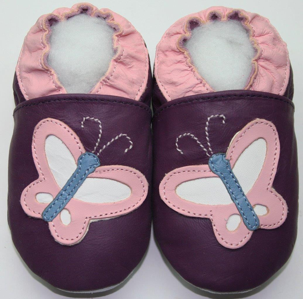 Lovely Minishoezoo soft sole Leather Baby Pram Slippers Indoor Leather sole Slippers Of Fresh 46 Models Leather sole Slippers