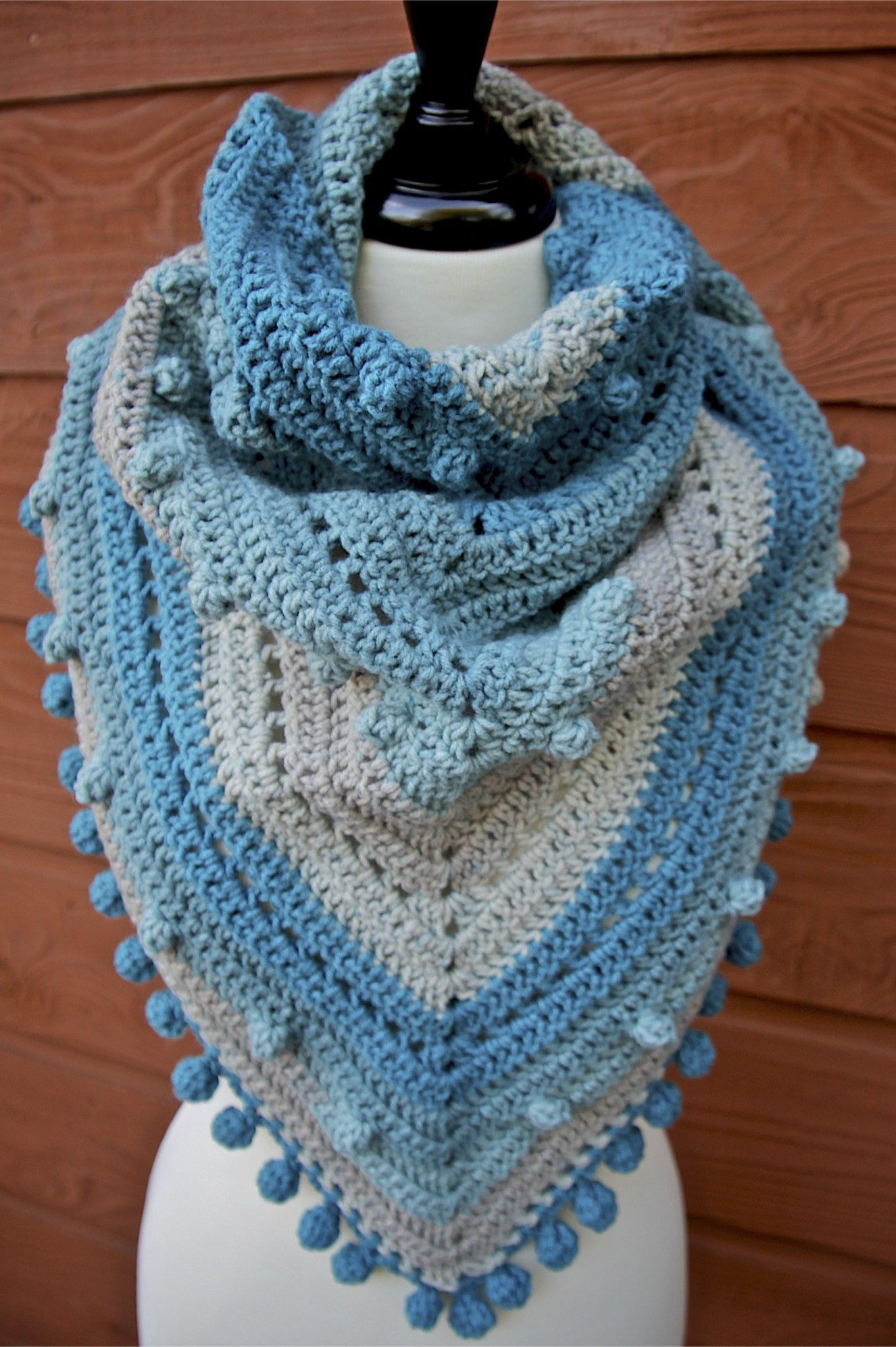 Lovely Misty Morning Triangle Scarf Shawlette Crochet Pattern Caron Big Cakes Patterns Of Awesome 46 Pics Caron Big Cakes Patterns