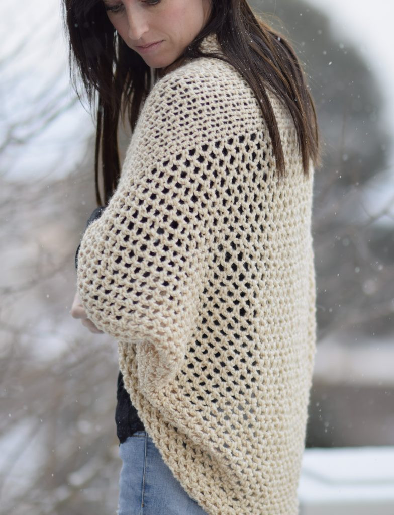 Lovely Mod Mesh Honey Blanket Sweater – Mama In A Stitch Easy Crochet Cardigan Pattern Free Of Adorable 41 Pictures Easy Crochet Cardigan Pattern Free