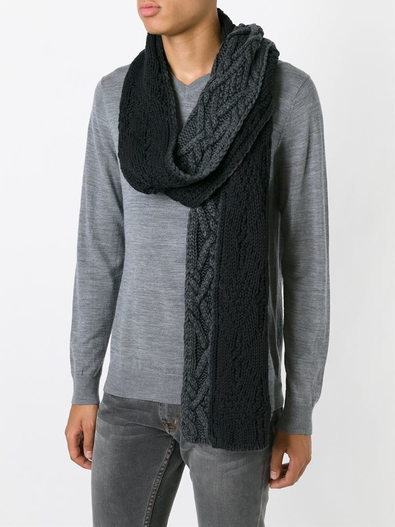 Lovely Moncler Gray Cable Knit Scarf for Men Cable Scarf Of Innovative 49 Ideas Cable Scarf