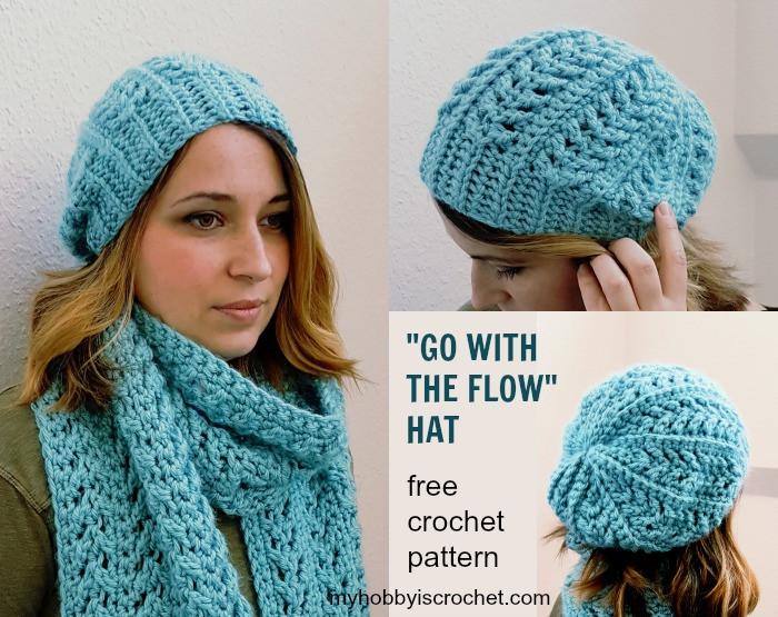 Lovely My Hobby is Crochet Go with the Flow Hat Free Crochet Crochet Beanie Tutorial Of Attractive 48 Pics Crochet Beanie Tutorial