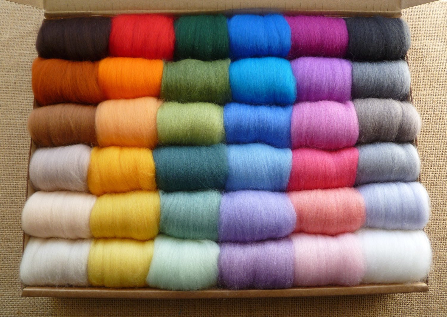 Lovely Needle Felting Wool 36 Mixed Colours Boxed Very soft Wool Roving Yarn Of Awesome 40 Pictures Wool Roving Yarn