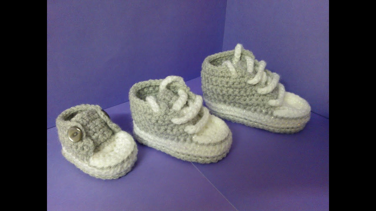 Lovely New How to Increase Sizes with My Easy Crochet Converse Crochet Converse Baby Booties Of Wonderful 41 Models Crochet Converse Baby Booties