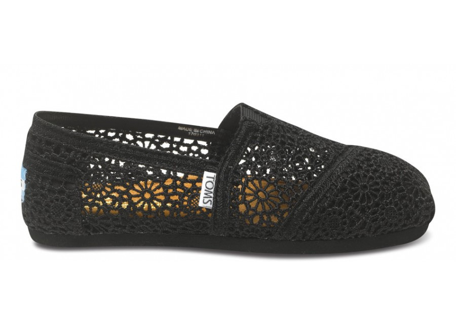 Lovely New toms Black Lace Crochet Women 039 S Classics sold Out Black Crochet toms Of Brilliant 48 Pictures Black Crochet toms