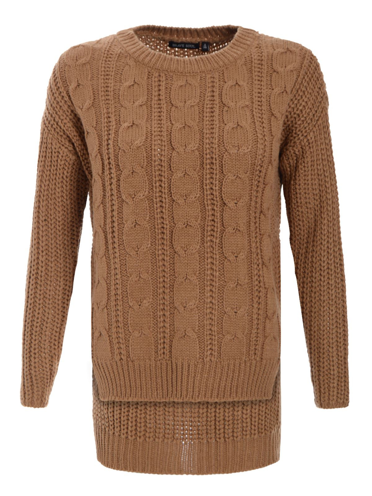 Lovely New Womens Ladies Knit Cable Crop top Baggy Waffle Knitted Womens Chunky Cable Knit Sweater Of Luxury 45 Models Womens Chunky Cable Knit Sweater