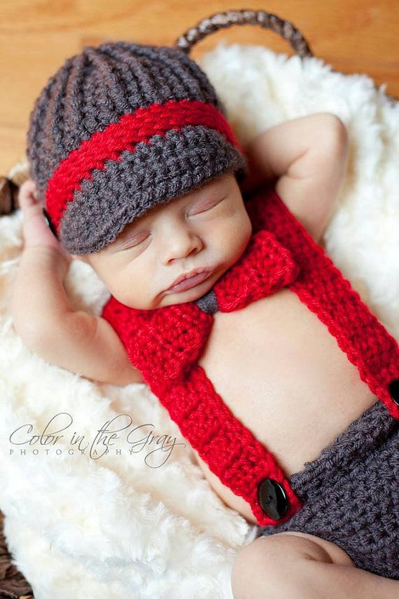 Lovely Newborn Crochet Newsboy Hat with Matching Suspender Crochet Baby Diaper Cover Of Wonderful 48 Photos Crochet Baby Diaper Cover