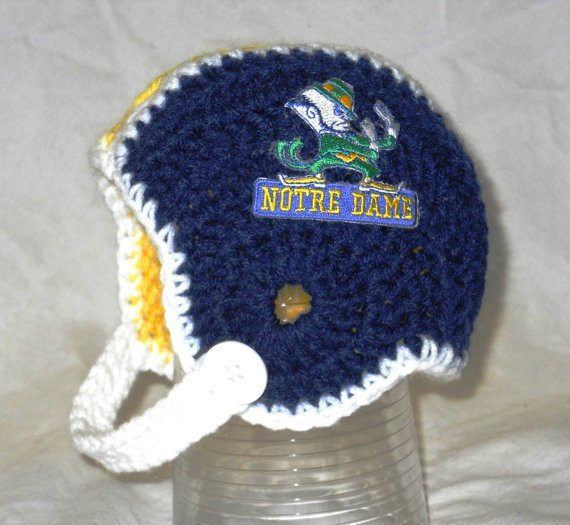 Lovely Notre Dame Inspired Crochet Baby Football Helmet Hat with Crochet Football Helmets Of Lovely 48 Pics Crochet Football Helmets