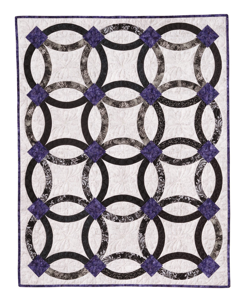 Lovely Nouveau Wedding Ring Quilt Eleanor Burns Signature Quilt Wedding Ring Quilt Pattern Of New John Flynn's Double Wedding Ring Class Wedding Ring Quilt Pattern
