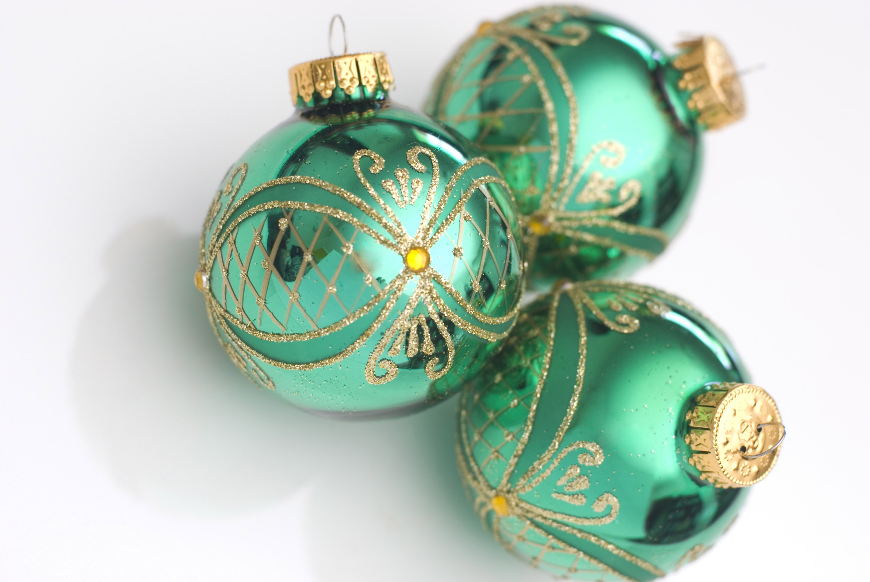 Lovely Of Green Christmas Balls Glass Christmas Decorations Of Elegant Blown Glass Christmas ornaments Glass Christmas Decorations