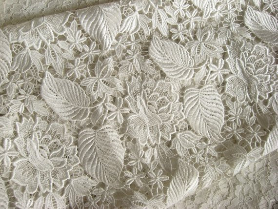 off White guipure lace fabric venise lace fabric bridal lace