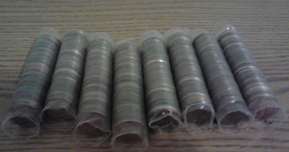 Old Coin Roll Hunting Going Through 8 Penny Rolls From