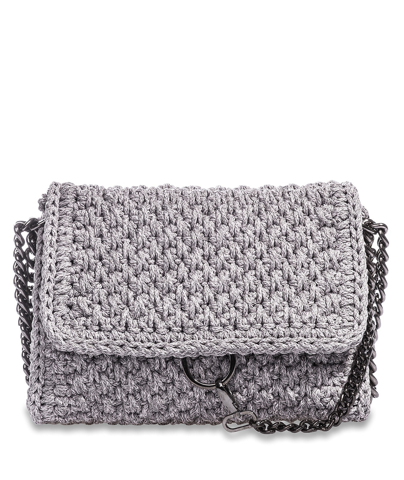 ONE & ONLY Grey Obsession Link Crochet Bag