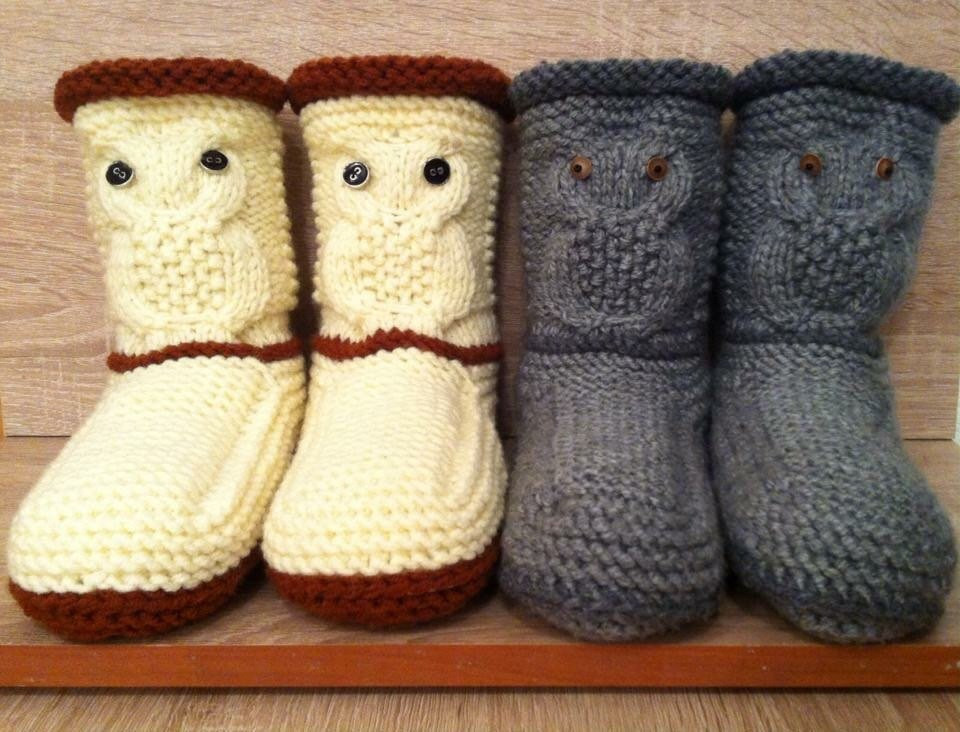 Lovely Owl Slippers Knitted Slipper Booties Gray Knit Slippers Knit Knitted Slipper Boots Of Superb 41 Pics Knitted Slipper Boots