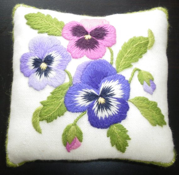 Lovely Pansy Pincushion A Crewel Embroidery Kit for Beginners Hand Embroidery Kits Beginners Of Gorgeous 45 Photos Hand Embroidery Kits Beginners