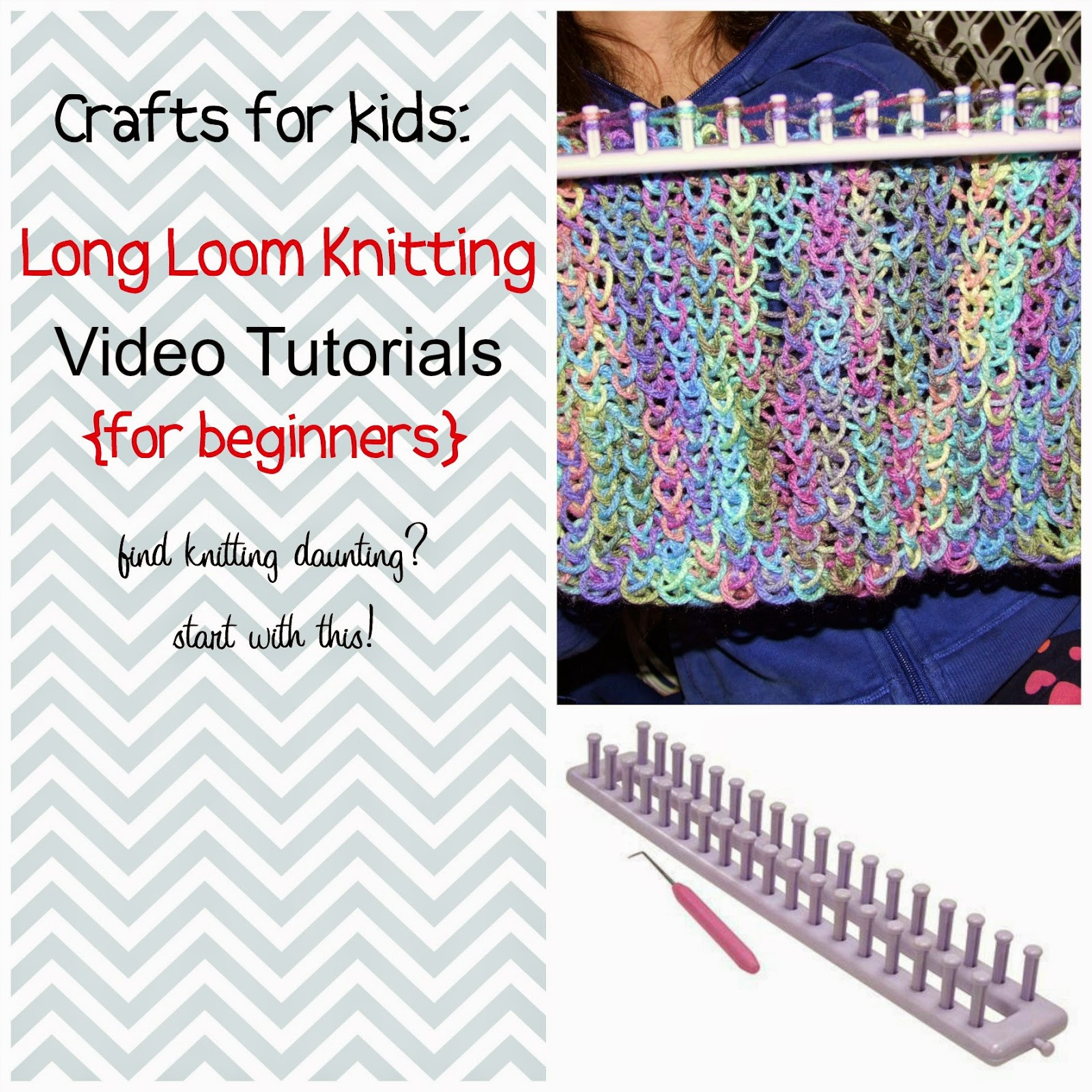 Lovely Paper Tape & Pins Long Loom Knitting Video Tutorials for Loom Knitting for Beginners Of Brilliant 40 Ideas Loom Knitting for Beginners