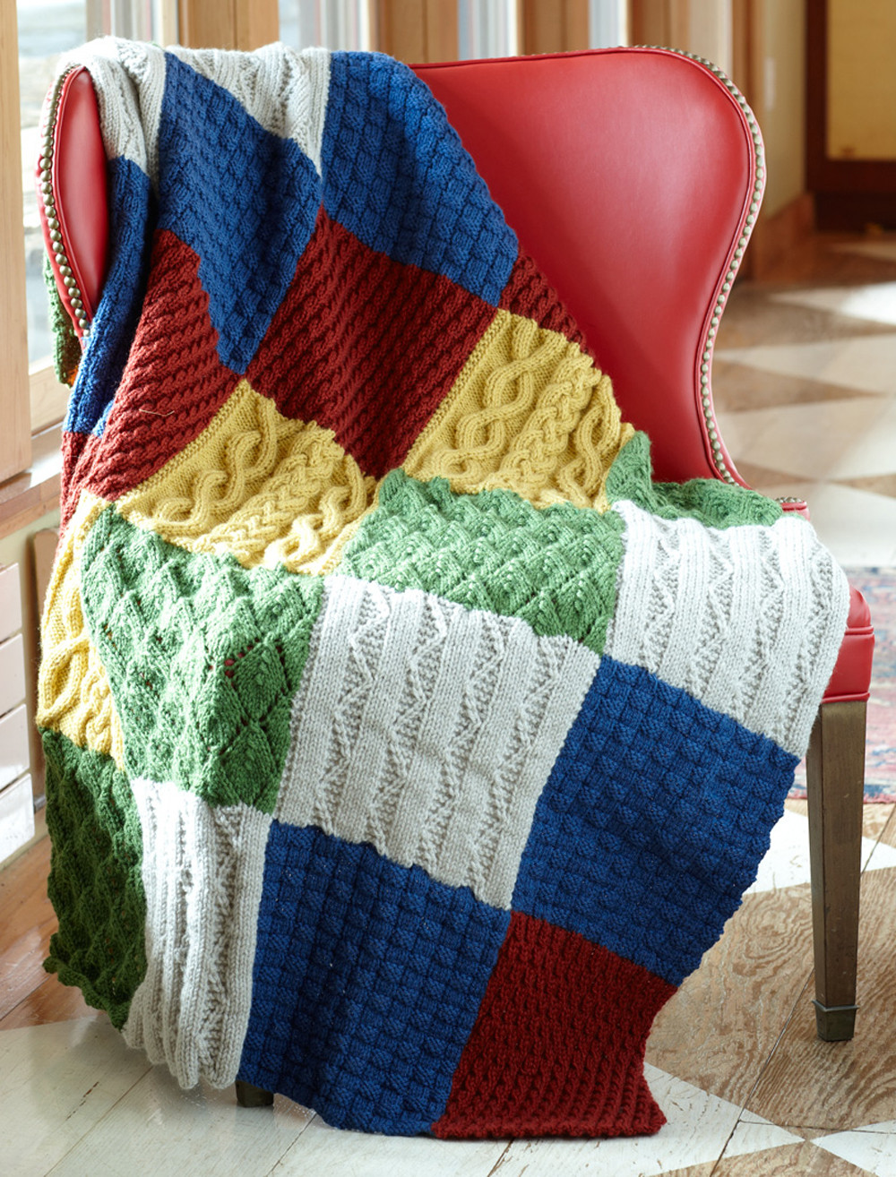 Lovely Patch Sampler Throw Easy Knit Afghan Of Contemporary 50 Ideas Easy Knit Afghan