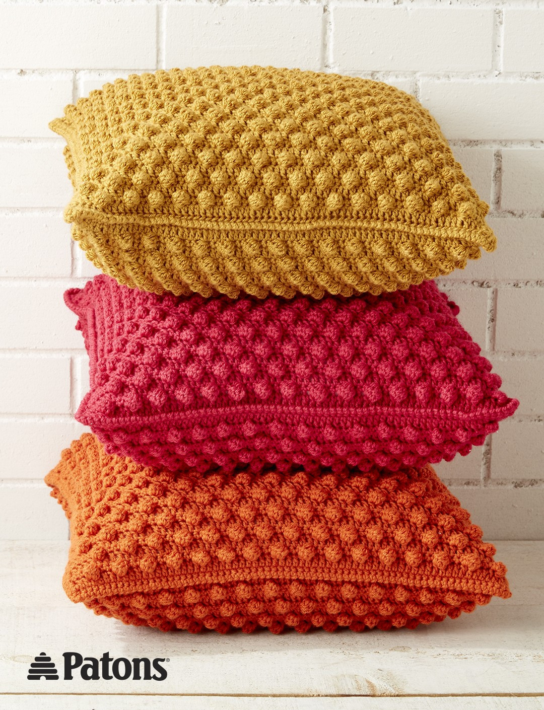 Lovely Patons Bobble Licious Pillows Crochet Pattern Crochet Pillow Patterns Of New 49 Models Crochet Pillow Patterns