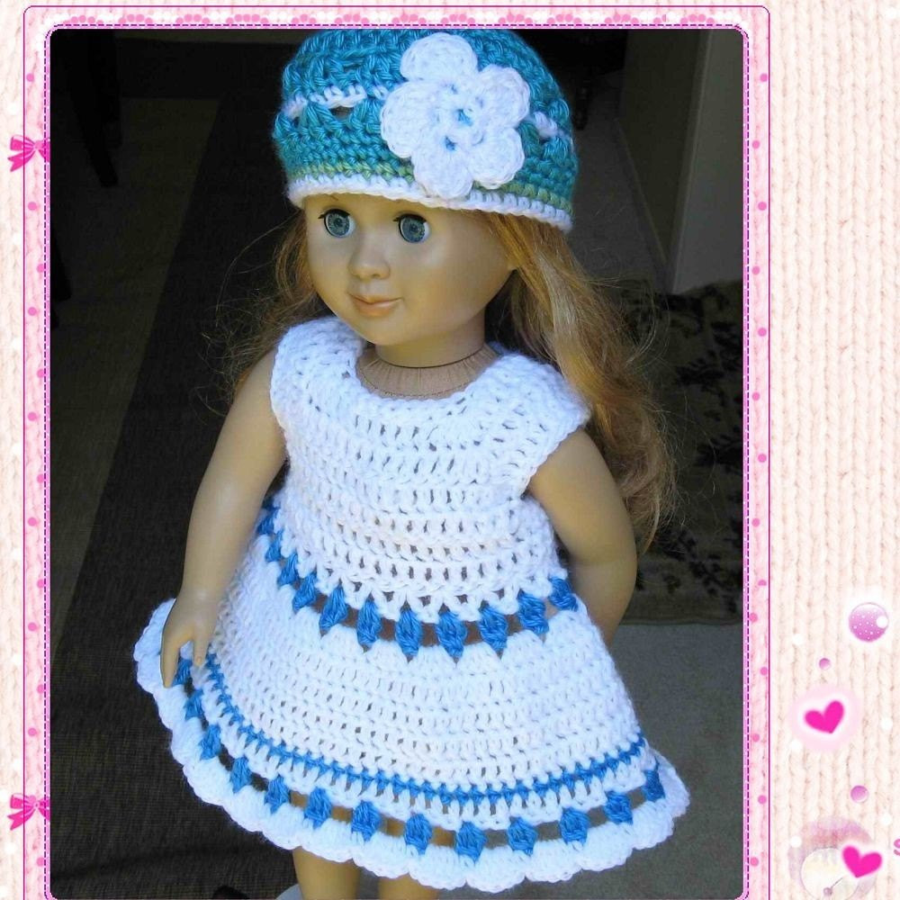 Lovely Pattern Crocheted Doll Dress for American Girl Gotz or Free Crochet Patterns for American Girl Dolls Clothes Of Adorable 50 Pictures Free Crochet Patterns for American Girl Dolls Clothes