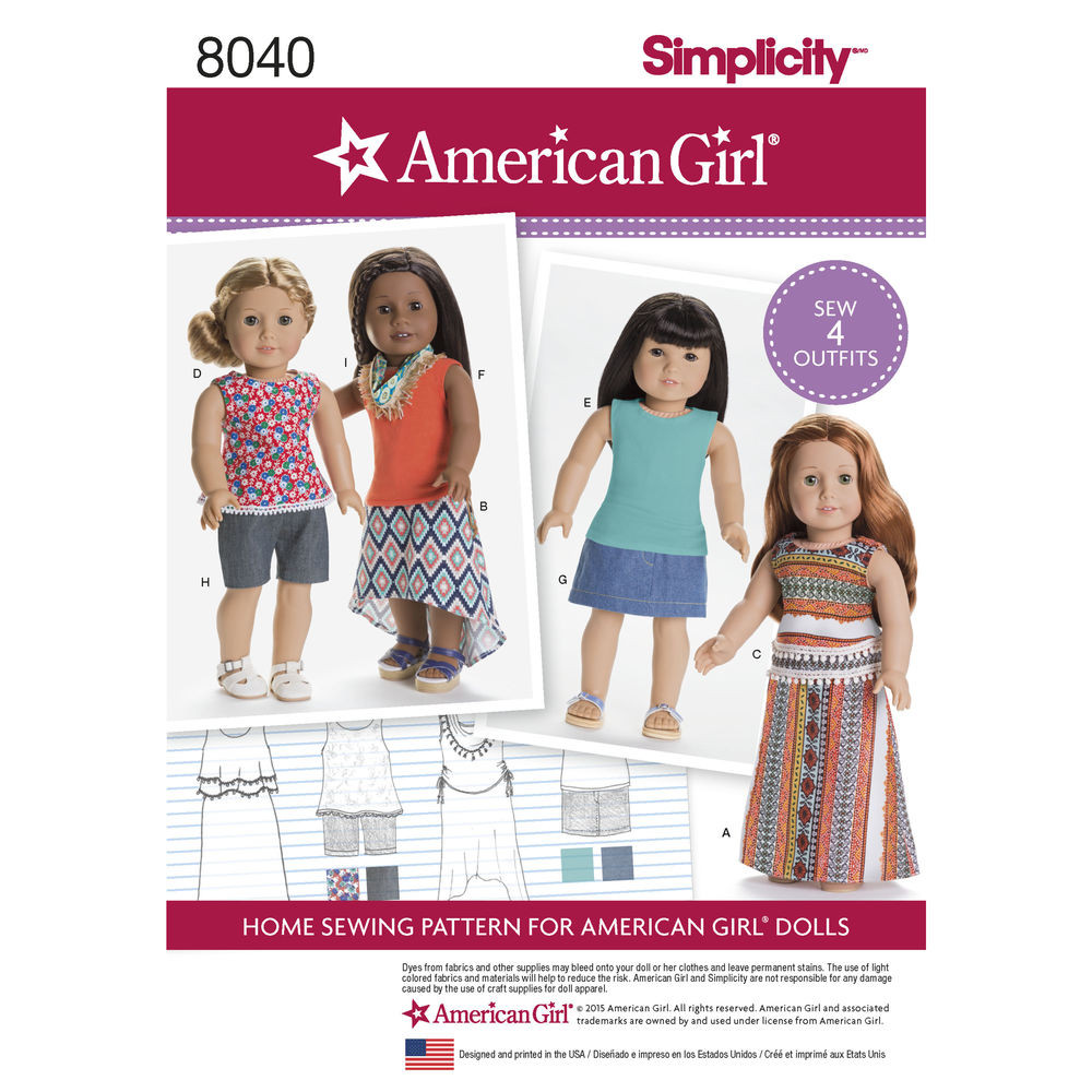 """Lovely Pattern for American Girl Doll Clothes for 18"""" Doll American Doll Clothes Patterns Of Superb 48 Ideas American Doll Clothes Patterns"""