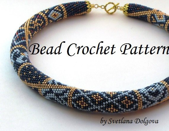Lovely Pattern for Bead Crochet Necklace Crochet Bead Necklaces Of Unique 44 Photos Crochet Bead Necklaces