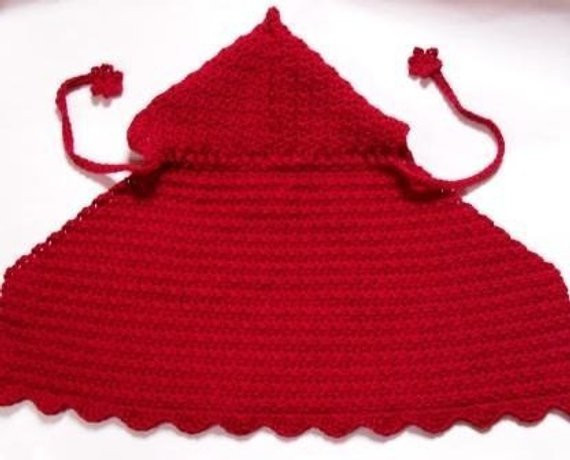 PDF crochet pattern d riding hood cape