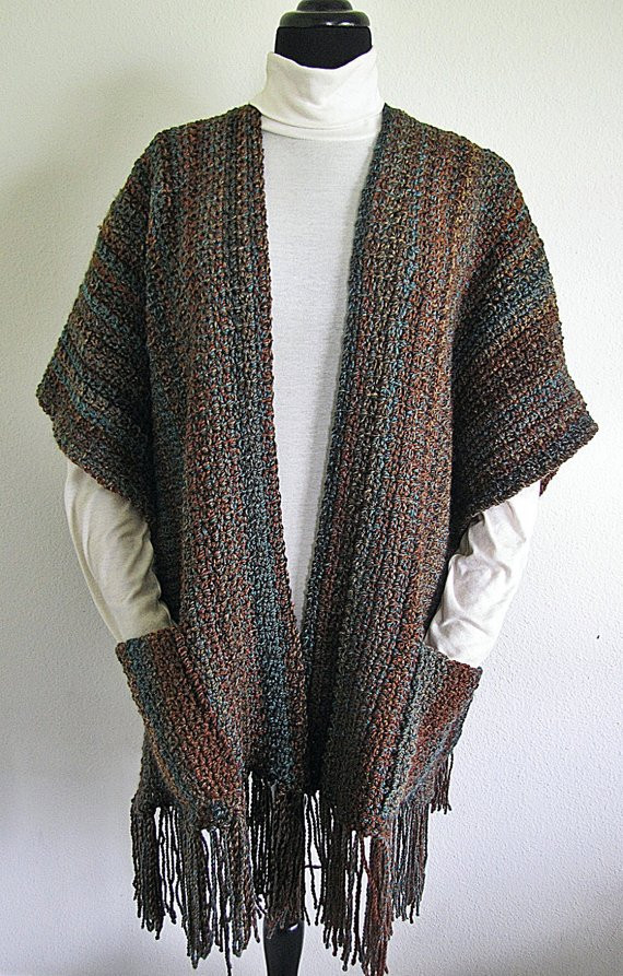 Lovely Pdf Crochet Pattern Indian Summer Ruana Wrap Shawl Free Crochet Ruana Pattern Of Amazing 46 Ideas Free Crochet Ruana Pattern