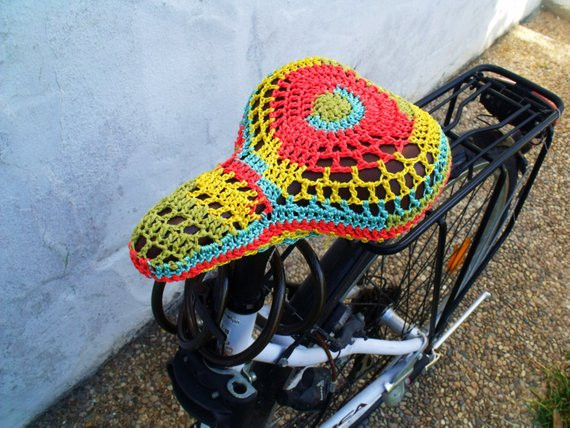 Lovely Pdf Pattern Crochet Bicycle Seat Cover Instant Download Crochet Seat Cover Of Great 40 Models Crochet Seat Cover