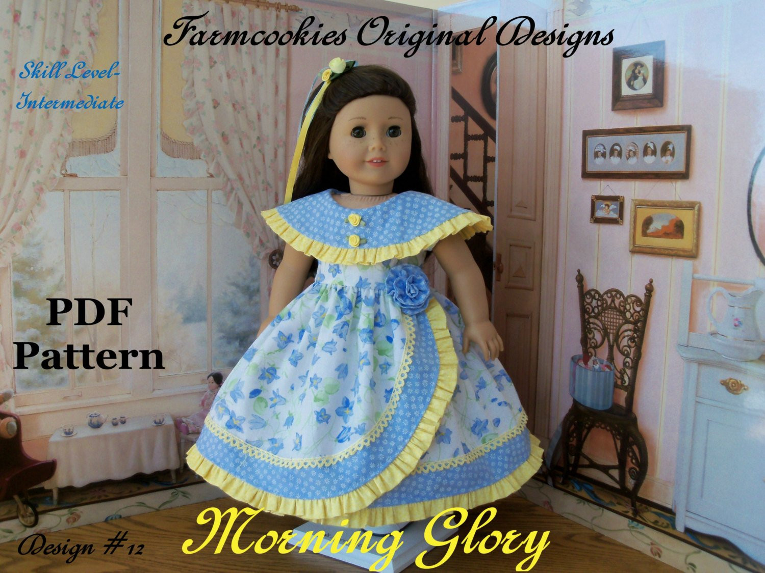 Lovely Pdf Sewing Pattern for American Girl Doll Morning Glory American Doll Clothes Patterns Of Superb 48 Ideas American Doll Clothes Patterns