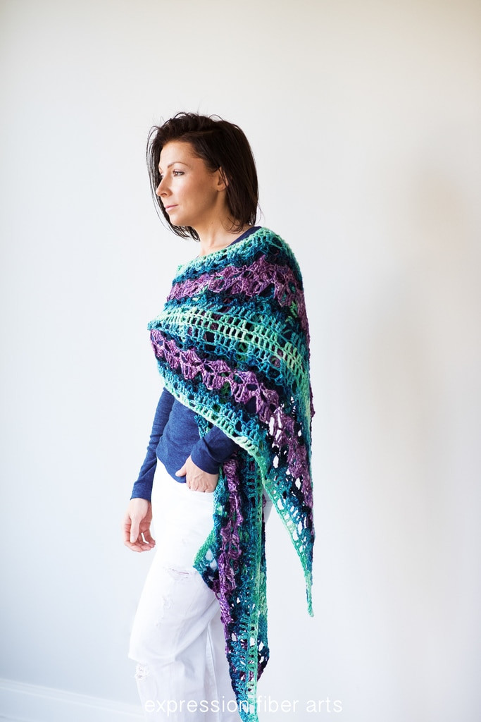 Lovely Peacock Path Crochet Shawl Pattern Expression Fiber Arts Peacock Shawl Of Charming 44 Pictures Peacock Shawl
