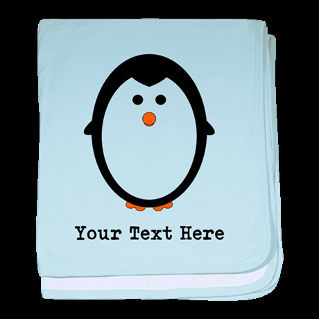 Personalized Penguin baby blanket by cubecancreation