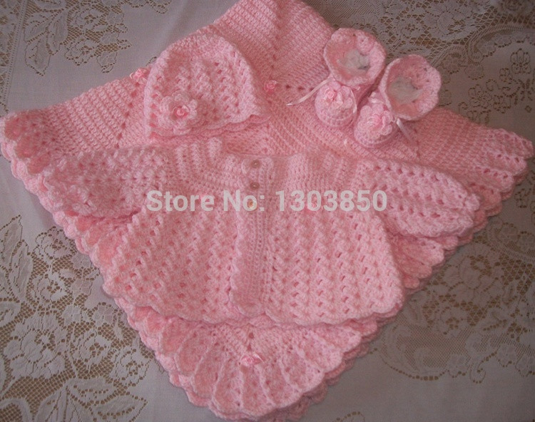 Lovely Pink Crochet Baby Girl Sweater Set Layette Perfect for Crochet Baby Gift Of Innovative 49 Models Crochet Baby Gift