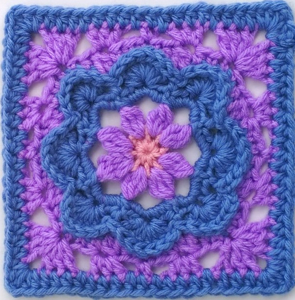 Lovely Pretty In Periwinkle Granny Square Pattern Large Granny Square Pattern Of New 47 Photos Large Granny Square Pattern