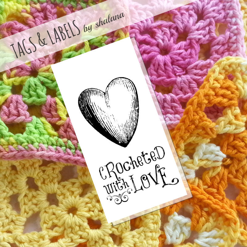 Lovely Printable Pdf Tags or Labels Crocheted with Love Crochet Tags Of Unique 47 Models Crochet Tags