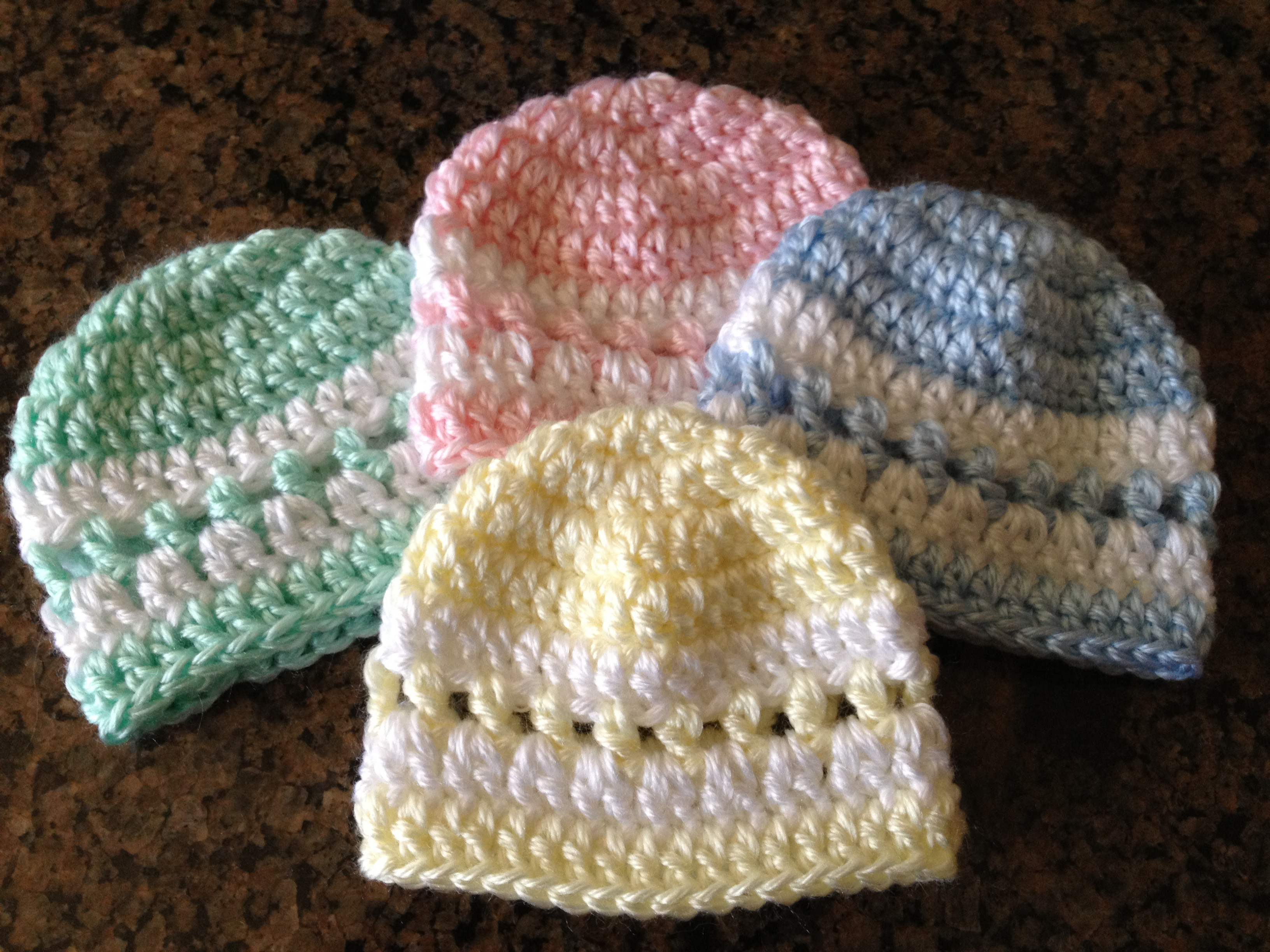 Lovely Quick Color Band Preemie Beanie Newborn Crochet Hat Pattern Free Of Great 43 Pictures Newborn Crochet Hat Pattern Free
