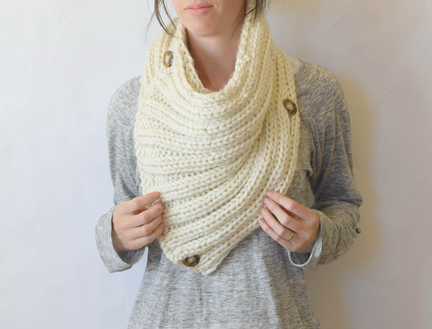 """Lovely """"two Ways"""" Giant Knit Ribbed Cowl Pattern – Mama In A Stitch Free Knitted Cowl Patterns Of Incredible 45 Images Free Knitted Cowl Patterns"""