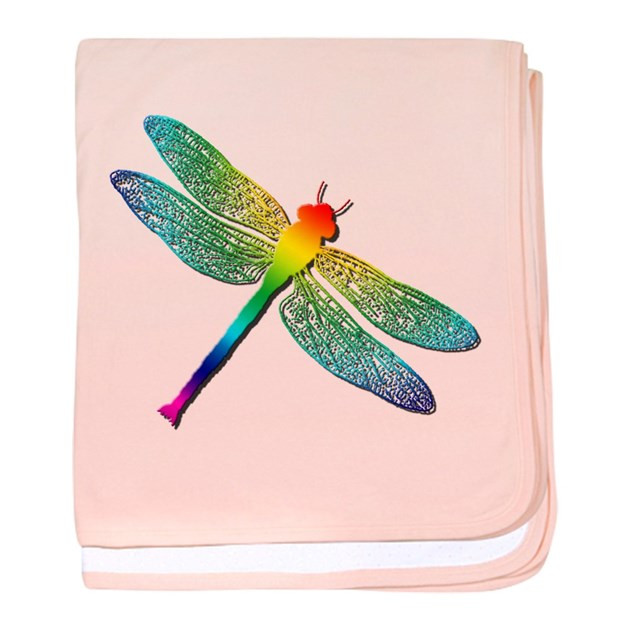 Lovely Rainbow Dragonfly Baby Blanket by Stargazerdesign Dragonfly Blanket Of Incredible 45 Ideas Dragonfly Blanket