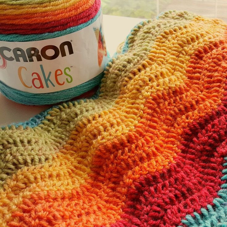 Lovely Rainbow Ripple Made with Caron Cakes Yarn Perfect Rainbow Caron Big Cakes Patterns Of Awesome 46 Pics Caron Big Cakes Patterns